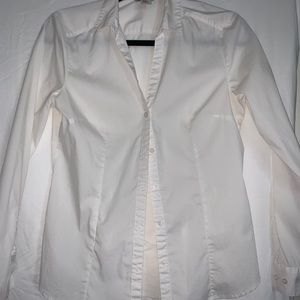 White cotton button up shirt